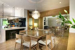äta middag interior för design fotografering för bildbyråer