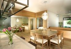äta middag interior för design Royaltyfria Bilder