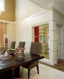 äta middag interior för områdesdesign Arkivfoton
