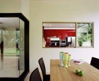 äta middag interior för områdesdesign Arkivfoto