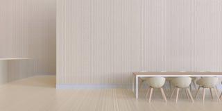 Äta middag minsta skärm och modern wood textur för vägg - som är lyxig och Arkivfoton