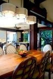 äta middag modern tabell royaltyfria foton