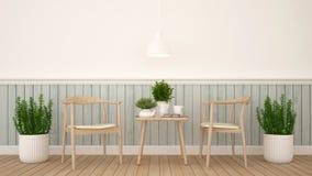 Äta middag område eller coffee shop - tolkning 3D Fotografering för Bildbyråer