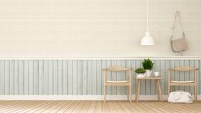 Äta middag område i coffee shop eller restaurangen - tolkning 3D Fotografering för Bildbyråer
