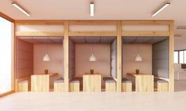 Äta middag område i modernt kontor Royaltyfria Bilder