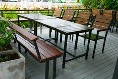 Äta middag på terrassen Arkivfoton