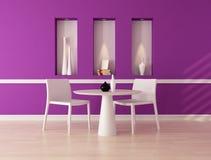 äta middag purpur lokal Royaltyfri Bild