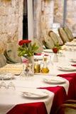 äta middag restaurangtabell Royaltyfria Foton