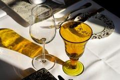 äta middag set tabell Royaltyfria Bilder