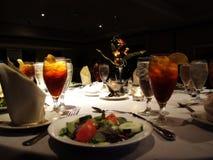 äta middag som är utsökt Fotografering för Bildbyråer