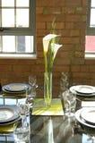 äta middag stilfull tabell Royaltyfri Fotografi