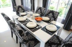 Äta middag tabell Royaltyfria Bilder