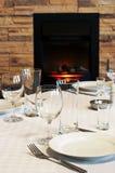 Äta middag tabell Royaltyfri Fotografi