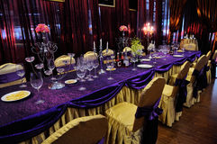 Äta middag tabell Royaltyfria Foton