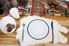 äta middag tabell Royaltyfri Bild