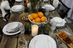äta middag tabell Royaltyfri Foto