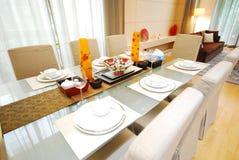 äta middag tabell 5 Royaltyfri Foto