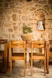 Äta middag tabell för kloster Royaltyfri Foto