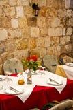 Äta middag tabell för restaurang Royaltyfria Bilder