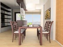 äta middag tabell för stång Royaltyfria Foton