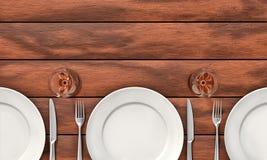 Äta middag tabellbakgrund Arkivbild