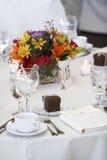 äta middag tabellbröllop Royaltyfri Fotografi