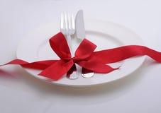 Äta middag tabellen arkivbild