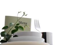 Äta middag tabellen royaltyfria bilder
