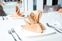 Äta middag tabellen Royaltyfri Foto