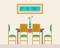 Äta middag tabellen för datum stock illustrationer