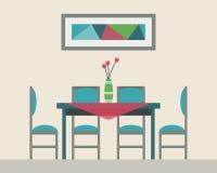 Äta middag tabellen för datum vektor illustrationer