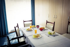 Äta middag tabellen med inga personer Royaltyfri Fotografi