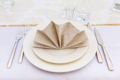 Äta middag tabellinställningen fotografering för bildbyråer