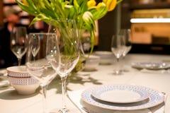 Äta middag tabellinställningen royaltyfria foton