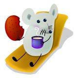 äta middag tid för frukost royaltyfri illustrationer