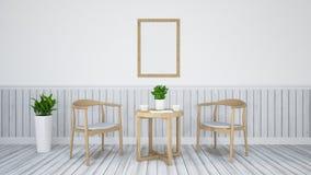 Äta middag uppsättningen för restaurangen - illustration 3D Royaltyfria Bilder