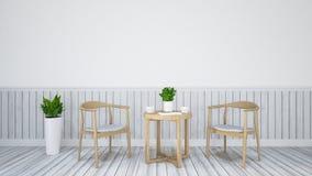 Äta middag uppsättningen för restaurangen - illustration 3D Royaltyfri Fotografi