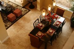 äta middag vardagsrum Royaltyfri Foto