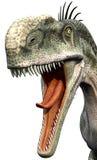 äta monolophosaurusen som är klar till stock illustrationer