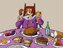 Äta något liknande en konung royaltyfri illustrationer