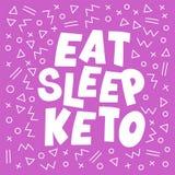 ÄTA SÖMN som sund Keto bantar illustrationen för tryckbanervektorn vektor illustrationer