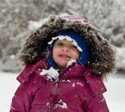 äta snowflakes Royaltyfri Foto