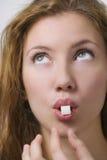 äta socker arkivfoto