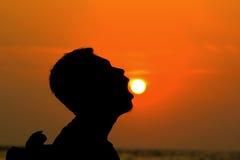 Äta solen Fotografering för Bildbyråer