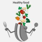 äta som är sunt stock illustrationer