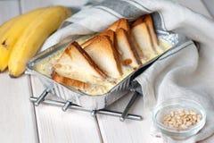 äta som är sunt Bananbröd, bananer Arkivbild