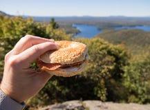 Äta som är utomhus- Royaltyfri Foto