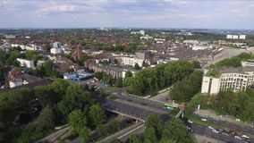 Äta stadsTysklandöverkanten stock video