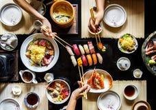 Äta sund livsstil för japansk mat royaltyfri fotografi