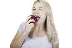 Äta sunt är lyckligt Royaltyfria Foton